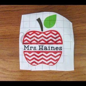 Other - Teacher decal